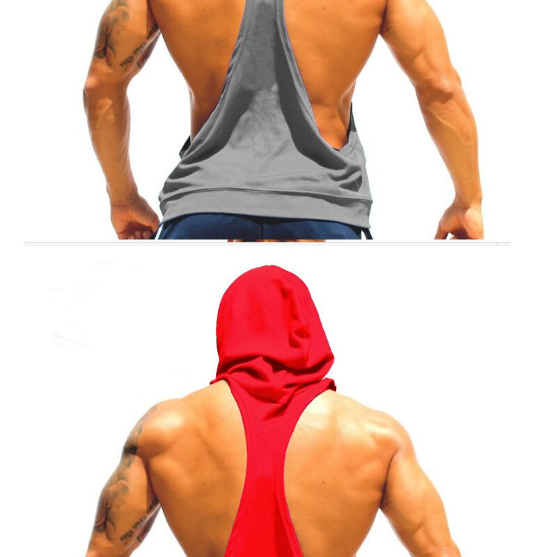 Men Cotton Hoodie Sweatshirts fitness clothes Gym bodybuilding tank top men Sleeveless sport Tees Shirt Casual golds gym vest(China (Mainland))