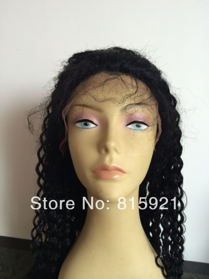 Stock Quality Remy Indian Hair Afro Kinky Curl Lace Front Wig Baby - EJS Shop store