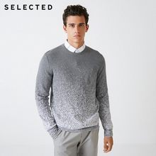 SELECTED Blackrock's New Men Round Collar Gradient Leisure Long Sleeve Knit Sweater S | 418324526(China)