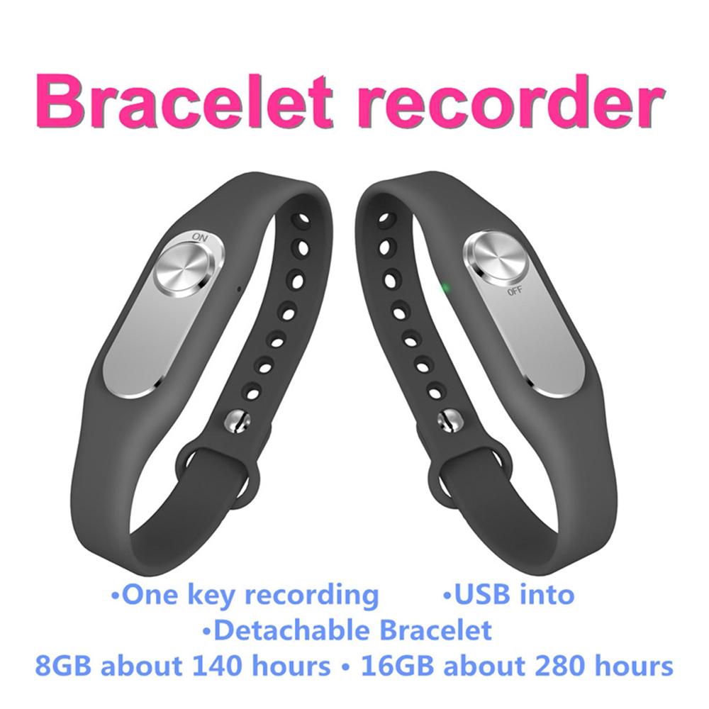 Newest Original Hnsat Wearable Wristband Portable Audio Video Digital Sports Bracelet Voice Recorder 16G Wristband USB Recorder(China (Mainland))