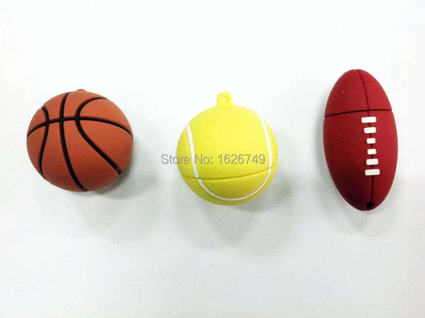 Sports ball usb flash drive 4GB 8GB 16GB 32GB memory stick basketball Pendrive football Pendriver tennis usb disk USB 2.0 3style(China (Mainland))