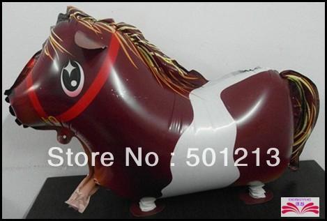 Free Shipping: horse pet balloon ,Walking animal balloons,walking pet balloons size: 64x43cm(China (Mainland))