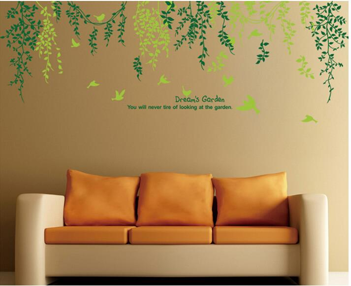 A Pcs Pvc Creative Wall Stickers Nature Tree Leaf Leaves Wall Home Decor Home Decoration For Diy