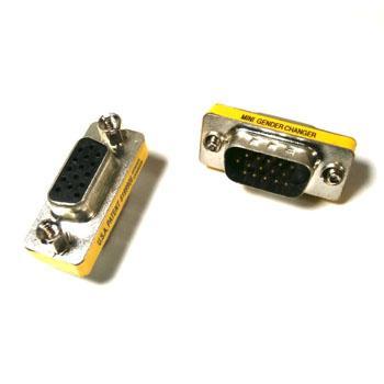 DB15 15pin VGA Female to Male VGA Adapter VGA cable converter adapter Free shipping(China (Mainland))