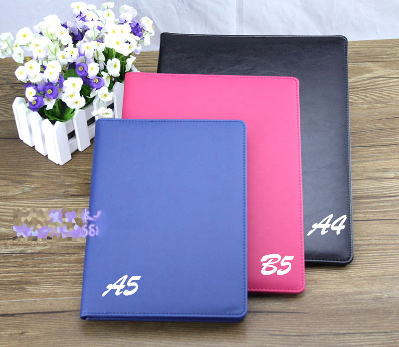 A4\B5\A5 PU leather Business affairs manager folder multi-function file folder Free shipping(China (Mainland))