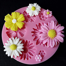3D Flower Fondant Cake DIY Mold Silicone Mould Sugarcraft Baking Decorating Tool DJ0532(China (Mainland))