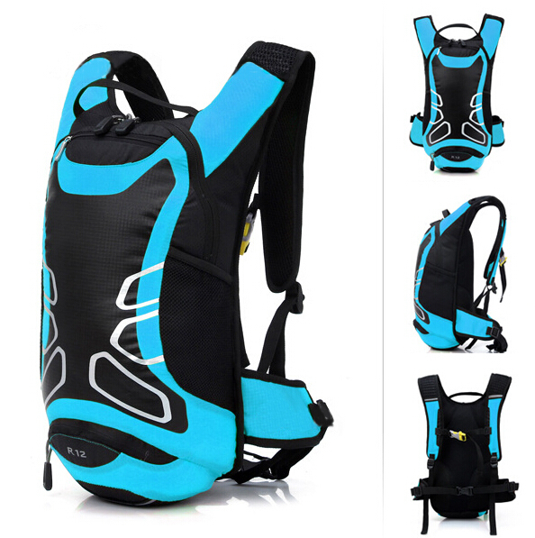 Гаджет  12L Waterproof Cycling Bicycle Bike Shoulder Backpack Ultralight Sport Outdoor Riding Travel Mountaineering Hydration Water Bag None Камера и Сумки