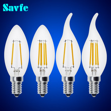 Buy 10pcs Antique C35 LED Edison Bulb Candle Bulb E27 E14 Vintage LED Bulb Lamp 220V Retro LED Filament Bulb Candle Light Spotlight for $23.50 in AliExpress store