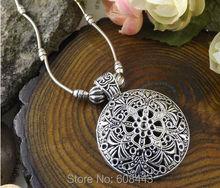 NR176 Bohemian Tibetan Silver Turquoise Stone vintage choker necklace chain Jewelry Jewellery Bijouterie for Women Girl's