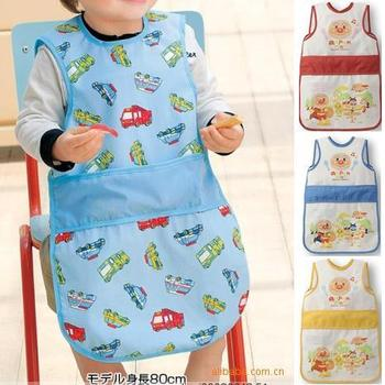 Long design bib lengthen baby gowns, edition aprons sleeveless bibs shirt anti-dressing baby