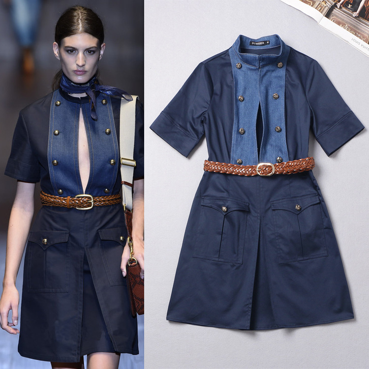 ! 2015 Summer runway dresses women belt Brand Dress - Fashion & Beauty Shop store