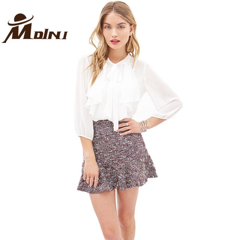Simple Women Blouse Short Sleeve Shirt Slim Korean Pure Color Casual Office