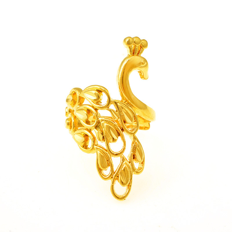 18K Chinese style peacock ring imitation gold toe ring bow ring new alluvial gold jewelry AJ062 Vietnam Mascot(China (Mainland))
