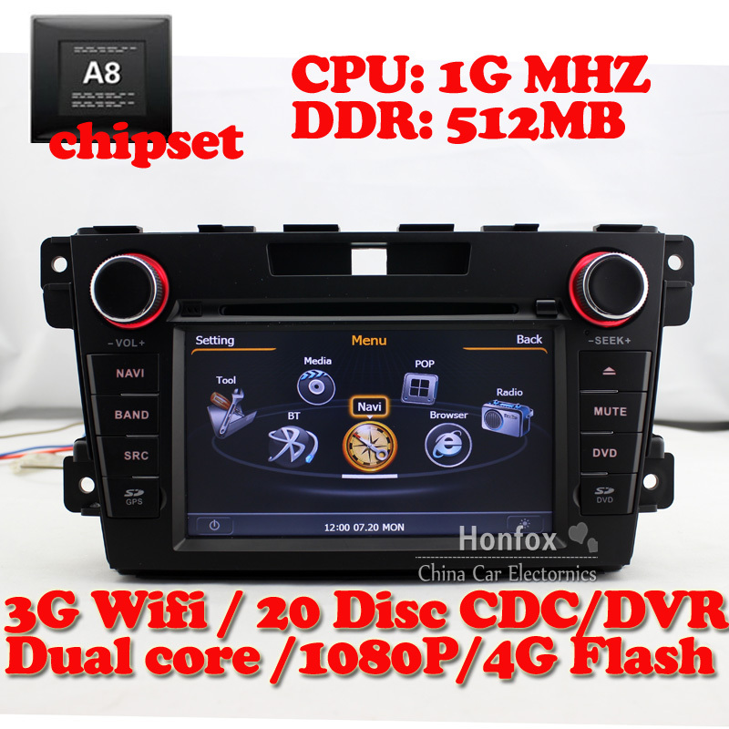 S100 DVD Navigation Stereo System For F Mazda CX7 CX 7 CX-7 2010 2011 with GPS Radio RDS BT DVR 3G wifi 1G CPU 512M DDR(China (Mainland))