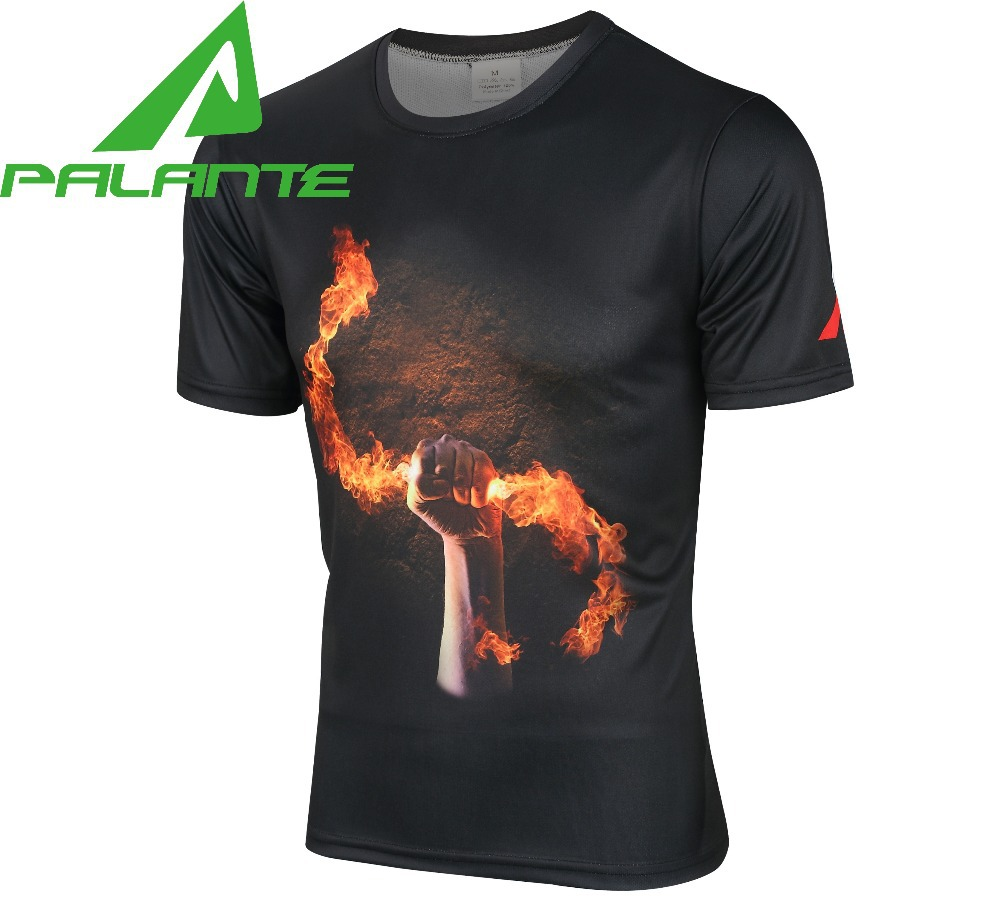 2015 of the latest fashion men's sports T-shirt 3d printing short sleeve due to the leisure brand PALANTE werewolves men T-shirt(China (Mainland))
