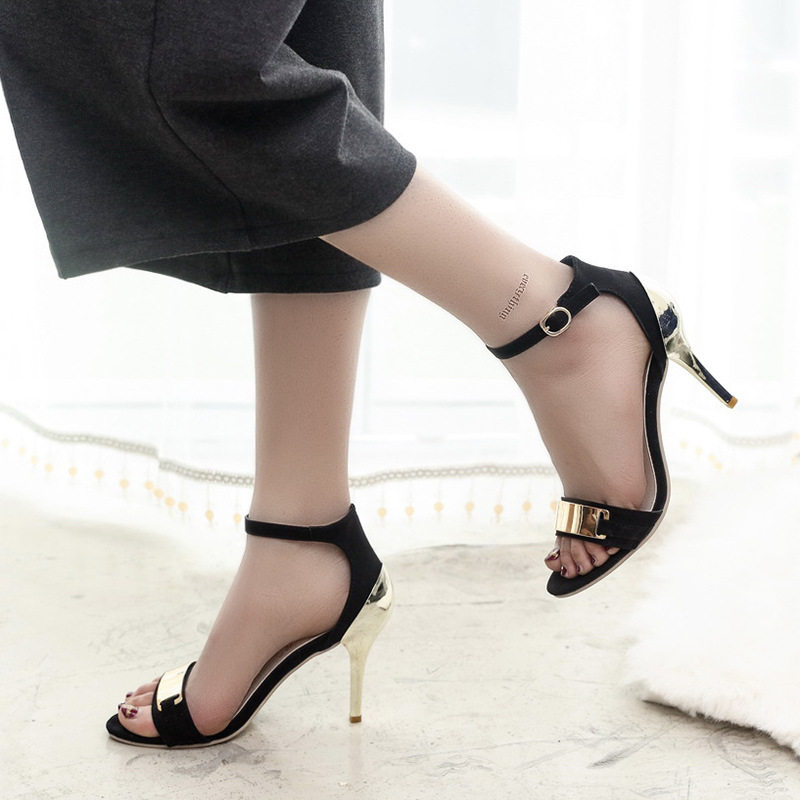 2016 New Fashion Women's High Heels Pumps Sexy Bride Sandals Thin Heel Peep toe High Heels Shoes women(China (Mainland))