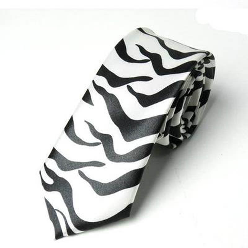 Fashion Zebra / Leopard Print Necktie Polyester Women & Men's Neckties 5cm Skinny Tie Business Neckties 10pcs #1144(China (Mainland))