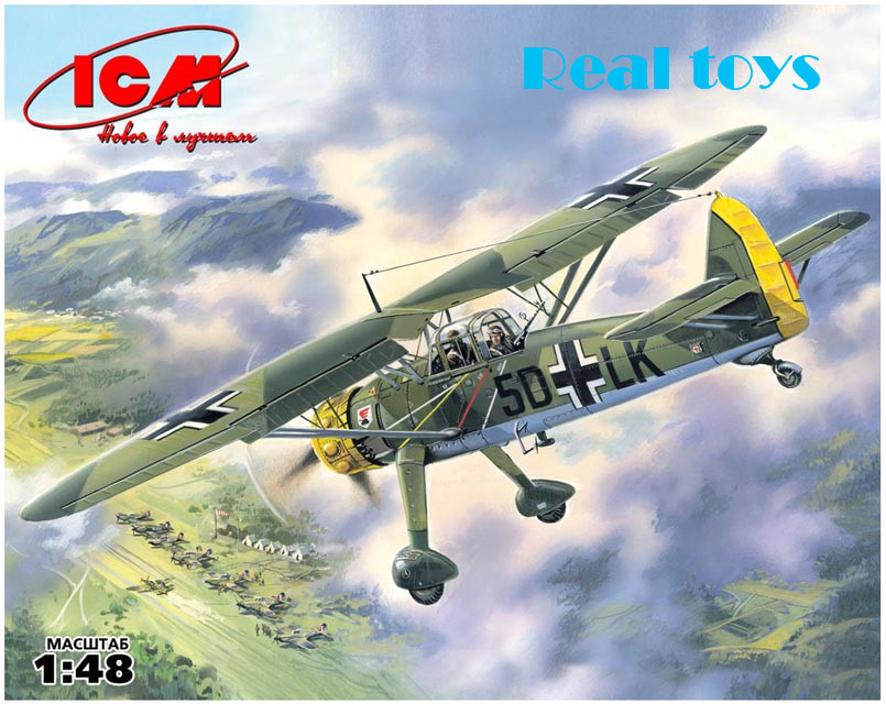 ICM model 48211 1/48 Hs 126A-1 WWII German Reconnaissance plane plastic model kit(China (Mainland))