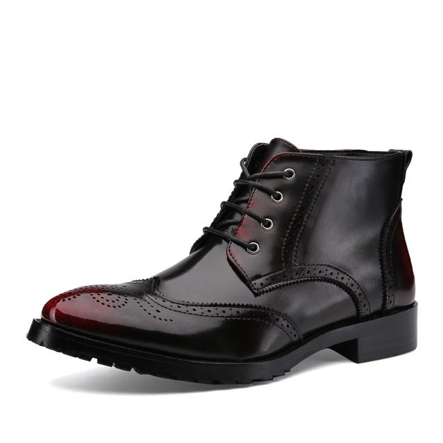 2015 акцентом стиль мужчины лакированные сапоги узелок указал-toe ботильоны каблук ...
