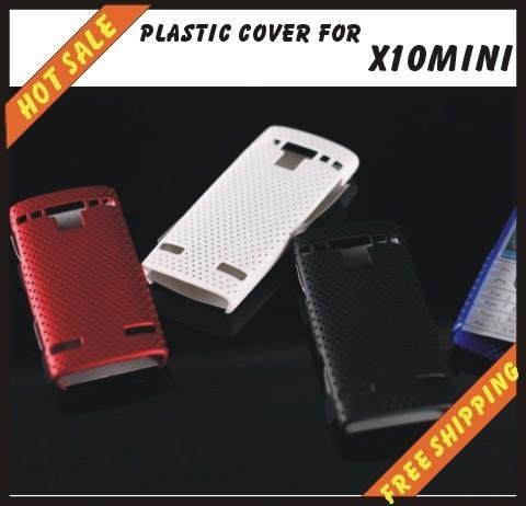 Free shipping --New high quality more colours plastic cover case mobile phone cellphone for SONY Ericsson X10 mini