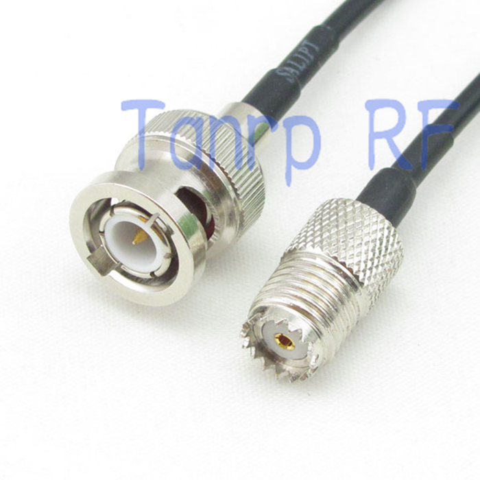 6in BNC male plug to mini UHF SO239 female jack RF connector adapter 15CM Pigtail coaxial jumper cable RG174 extension cord(China (Mainland))
