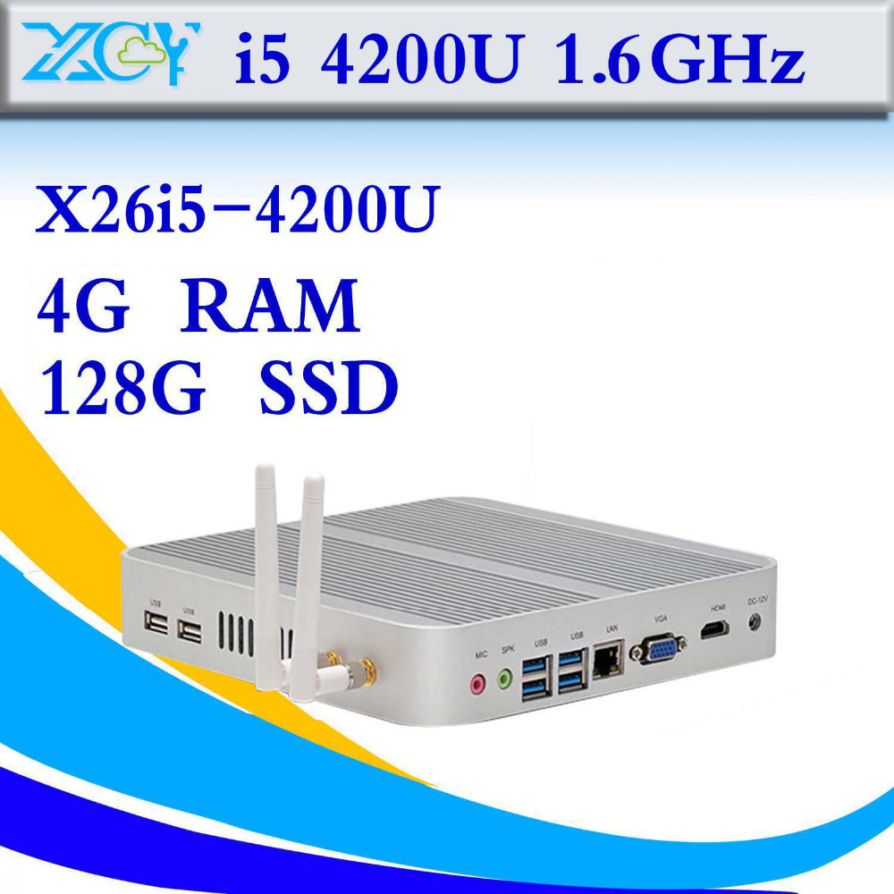 Highest effective Intel i5 4200u 4gb ram 128gb ssd computer networking Mini pc mini server thin client support full screen movie(China (Mainland))