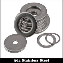 50pcs M12 M12*16*0.8 M12X16X0.8 (ID*OD*Thickness) 3# 304 Stainless Steel SS DIN125 Washers Plain Plat Washer(China (Mainland))
