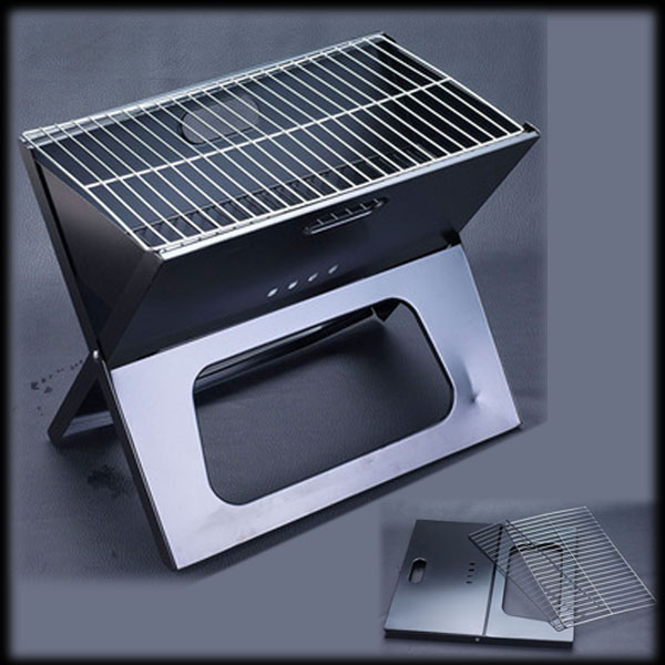 by dhl or ems 20pcs Foldable BBQ Grill Stainless Camping Portable Barbecue Grill(China (Mainland))