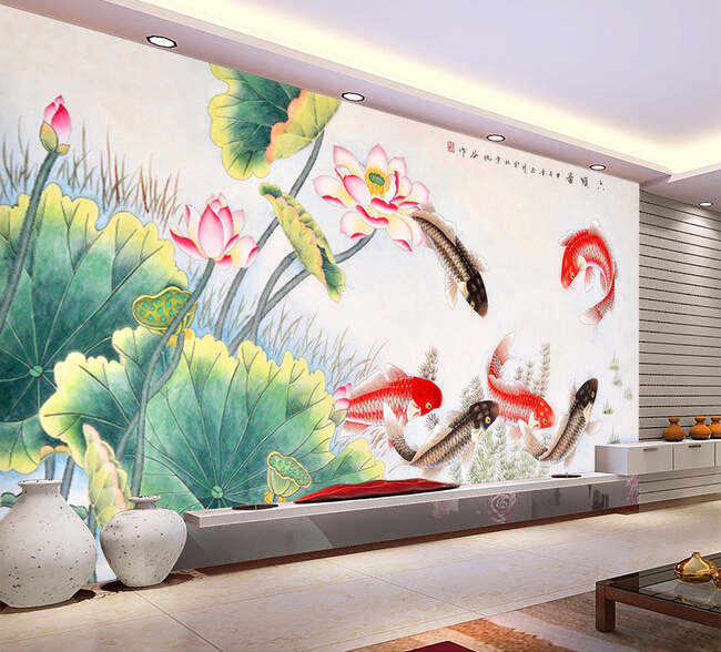 3d wallpaper custom mural non woven 3d room wall paper for Chinese wall mural