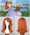 2016 Free Shipping Hot sell Popular style Princess Sofia Long Wavy Cosplay Wig Super Cos Wig