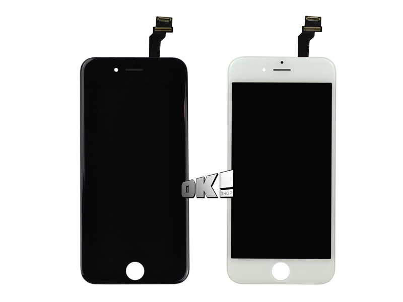 DHL 20 pcs LCD Display For Iphone 6 4.7 inch and Touch Screen digitizer Assembly white black color Free Shipping(China (Mainland))