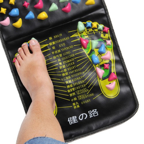 Chinese Walk Stone Pain Relieve Foot Leg Massager Mat Health Care Acupressure Free shipping(China (Mainland))