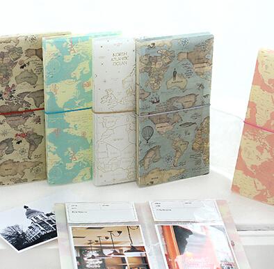 mini polaroid album photo la carte du monde vintage conception pp couverture 12 22 5 cm mini. Black Bedroom Furniture Sets. Home Design Ideas