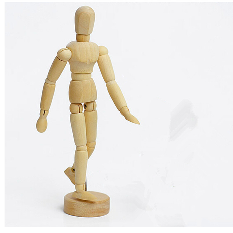 2016 New Coming Wooden Artist Manikin Jointed Mannequin Hand Blockhead Puppet,14 CM Wood Toys for Decoration 5 Pcs Free Shipping<br><br>Aliexpress