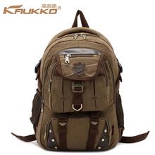 Buy KAUKKO Men's Canvas Backpack Leisure Travel Bag Backpack Vintage Fashion Men's Laptop Backpacks School Shoulder Bag for $31.39 in AliExpress store
