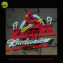Neon Sign st louis cardinals BUDWEISERR Store Display Handcrafted Pub Glass Tube Advertise Neon Publicidad Affiche Sign 31X24(China (Mainland))