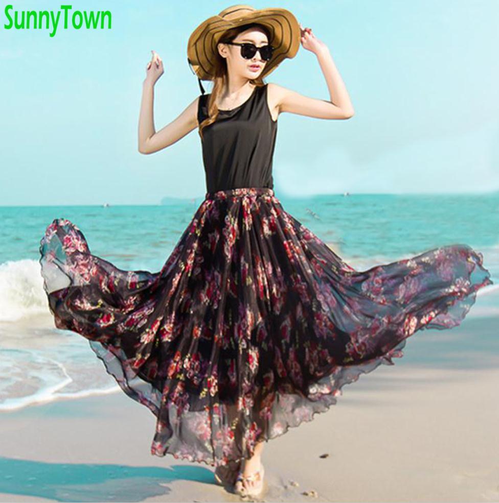 Длинные юбки лето весна доставка