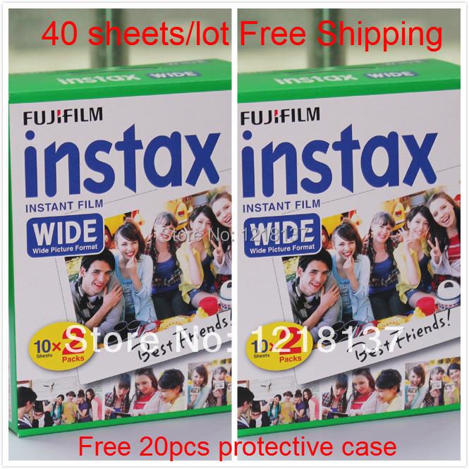 Fujifilm polaroid wide instax 210 200 films wide instant photo paper instax films wide(China (Mainland))