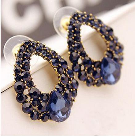Luxury ear cuffs high-end models Korean fashion wild earrings water drop droplet ear clip(China (Mainland))
