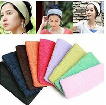 Absorb Sweat Yoga Hair Lead Cloth Towels with wide hair scarf Candy color  Free Shipping1PIECE FREE SHIPPING!