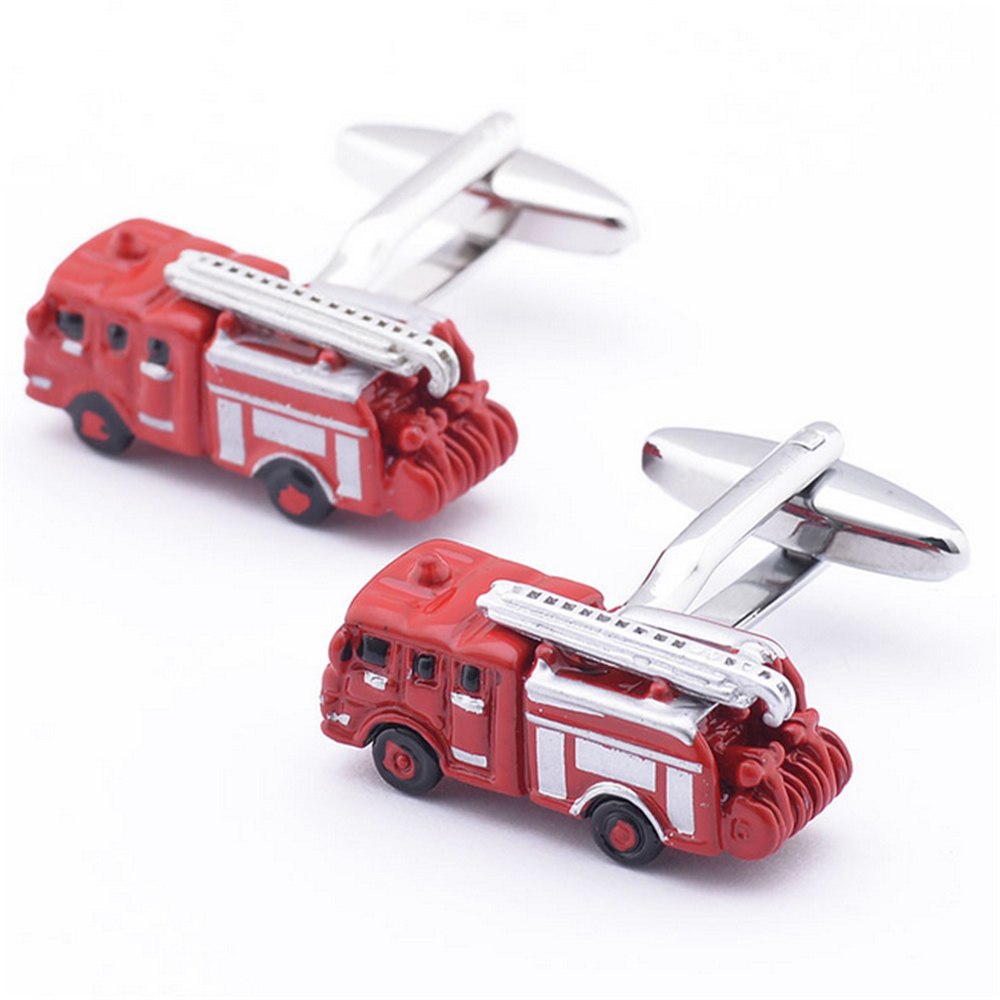 Men's Shirt Cufflinks Metal Copper Men Enamel Red Bus Cuff Links For Wedding Party Fashion Simple Men Sleeve Shirt Cufflinks(China (Mainland))