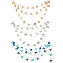 Buy 2016 New 4M Paper Garlands Birthday Wedding Mariage Party Room Door Festival Star Decoration Gold Blue for $1.23 in AliExpress store