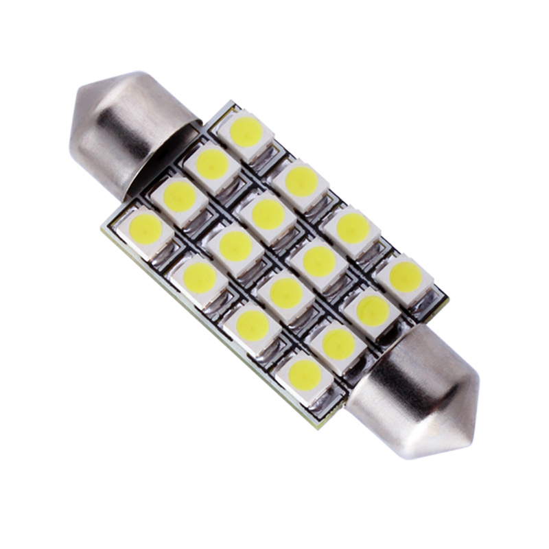 41mm 16 smd white dome festoon led light bulb lamp auto c5w led car bulbs interior lights car. Black Bedroom Furniture Sets. Home Design Ideas