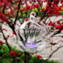 2pcs/set,Transparent Terrarium Borosilicate Hanging Glass candle holder & Tabletop candlestick Garden Home&Wedding Decoration(China (Mainland))