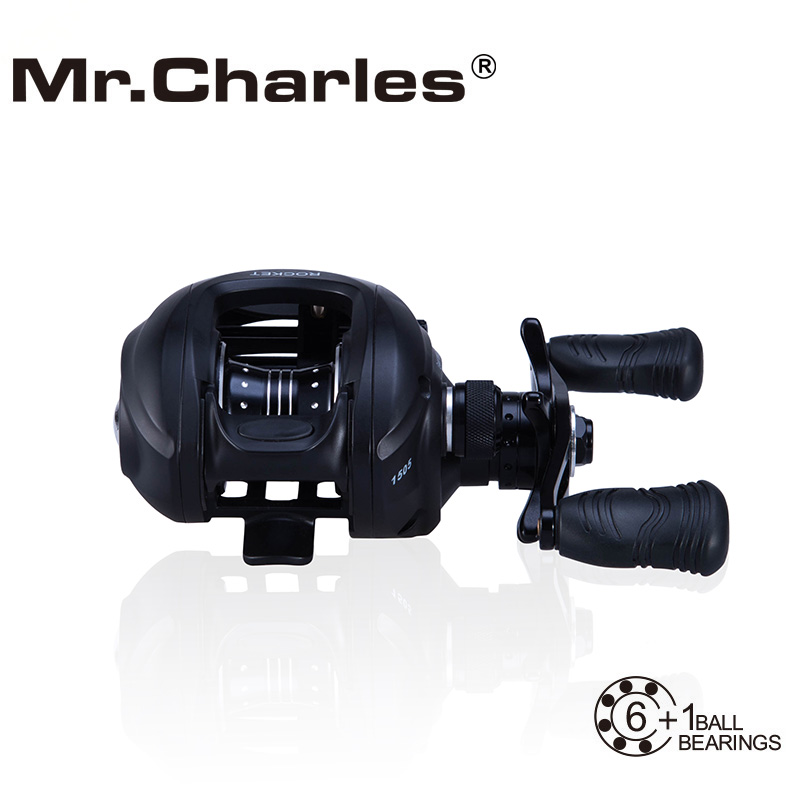 Mr.Charles ROCKET 6BB+1RB 6.5:1 Left /Right Hand Bait Casting Fishing Reel Bearing Baitcasting Fihsing Reels(China (Mainland))