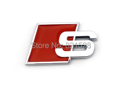 Red/black/blue 4 color 3D Auto Motor Alloy S line Sline Emblem Decal Badge Sticker fit for Audi A3 A4 A6 S4 S5 S6(China (Mainland))