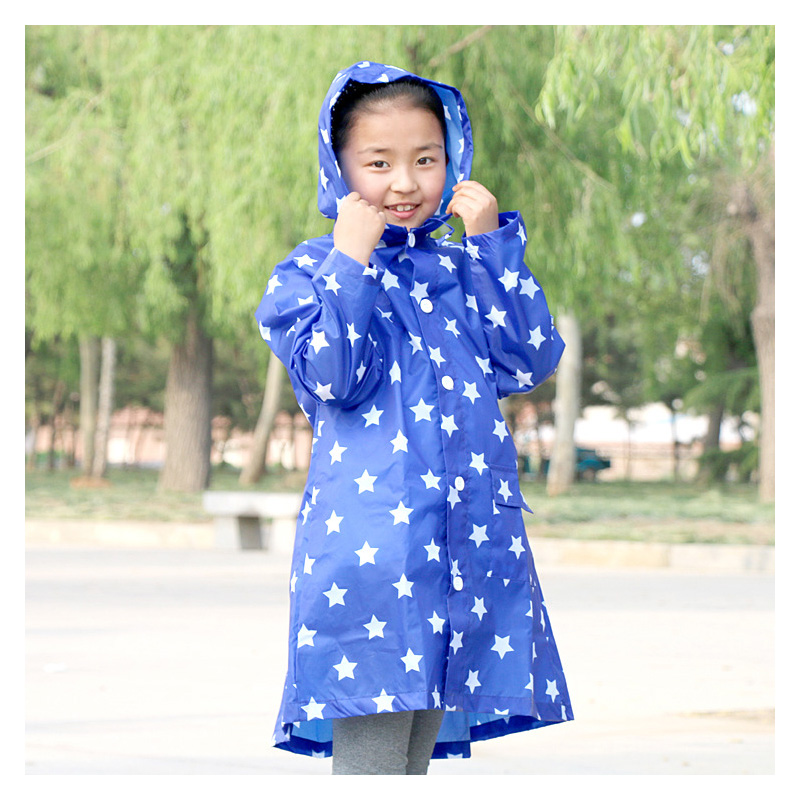 2016 Environmental Star poncho kids Cute Raincoat for Children Kids Scalable Rain Poncho Suit for students AQBS-6(China (Mainland))