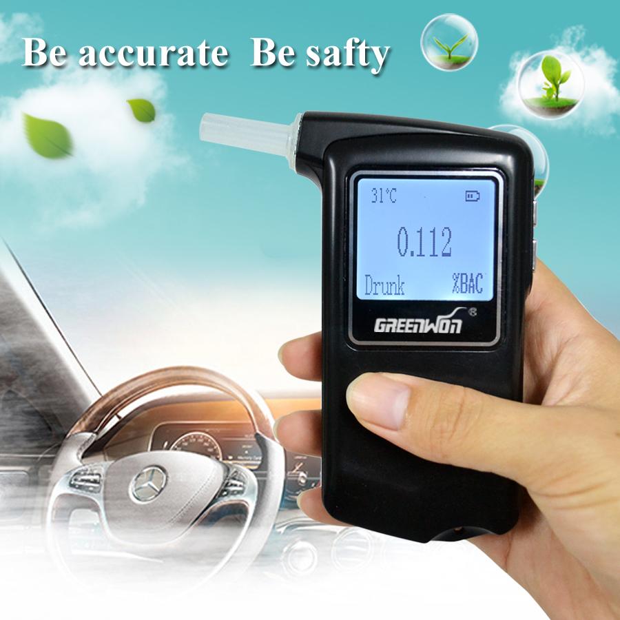 Greenwon Newest AT-868F high accuracy Prefessional Police Digital Breath Alcohol Tester Breathalyzer Freeshipping(China (Mainland))