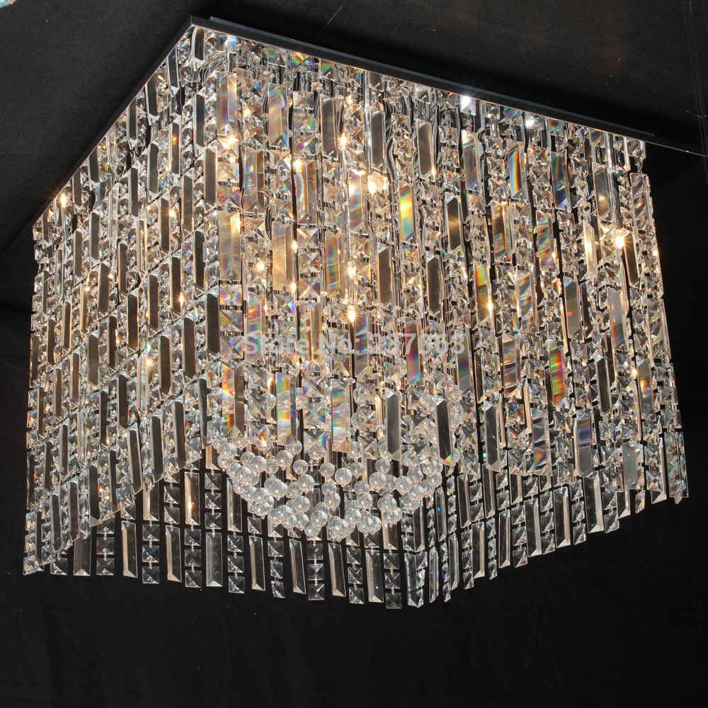 Top Quality Square Living Room Ceiling Crystal Lamp Luxury Chandelier Light fixture Modern Crystal Home Lighting<br><br>Aliexpress