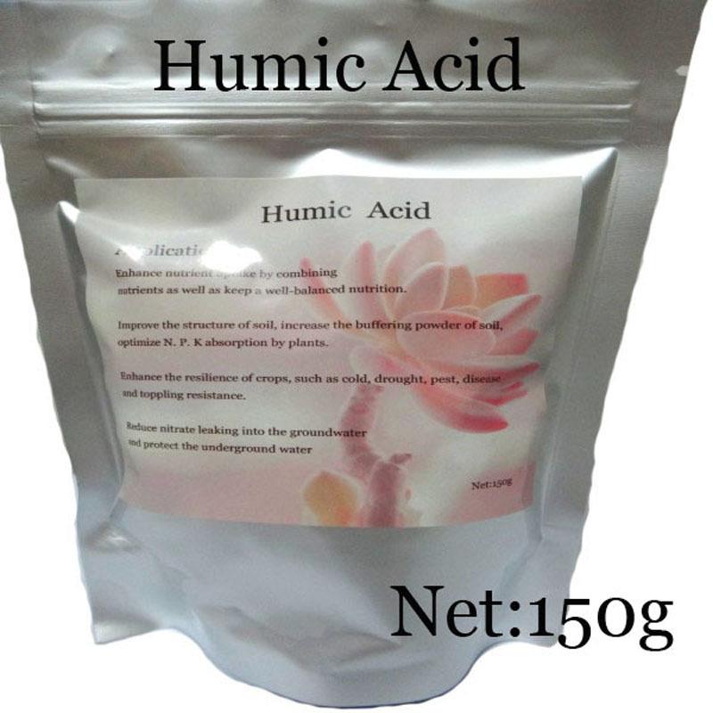 Trasporto libero-acido umico sicurezza lenoardite fertilizzante acido umico agricoltura fertilizzanti additivo nero podwer 150g(China (Mainland))